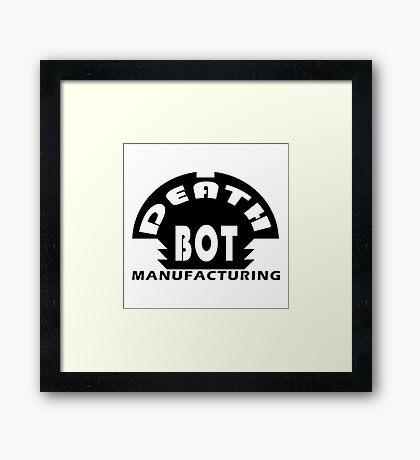Deathbot Manufacturing Logo Framed Print