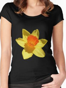 Daffodil Emblem Isolated Women's Fitted Scoop T-Shirt