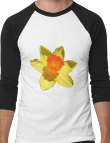 Daffodil Emblem Isolated Men's Baseball ¾ T-Shirt