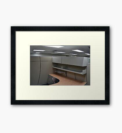 Warped Cubicle Framed Print