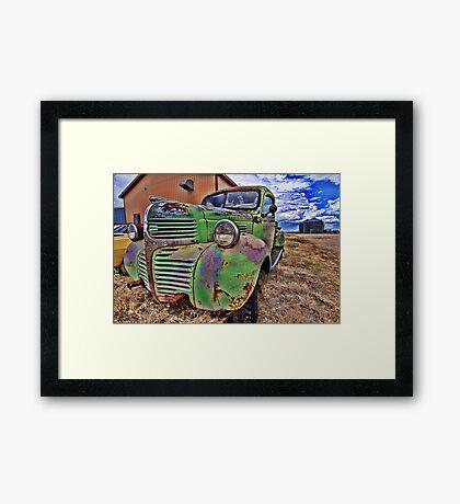 Ol'Dodge Framed Print