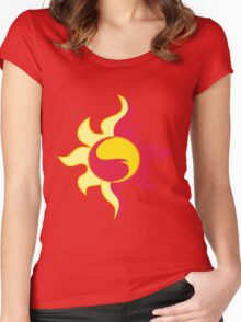 My little Pony - Sunset Shimmer Cutie Mark Women's Fitted Scoop T-Shirt