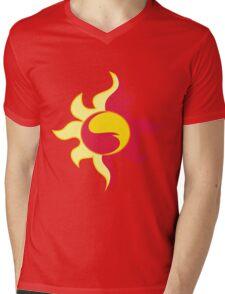 My little Pony - Sunset Shimmer Cutie Mark Mens V-Neck T-Shirt