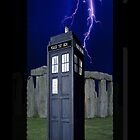 Tardis Stonehenge Lightning Strike ( iPhone & iPod Cases ) by PopCultFanatics