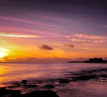 Sunset over Cocos by Karen Willshaw