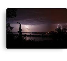 Thunderstruck at Sinnissippi Lake Canvas Print