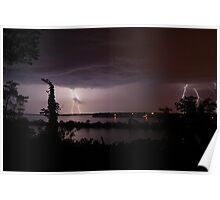 Thunderstruck at Sinnissippi Lake Poster