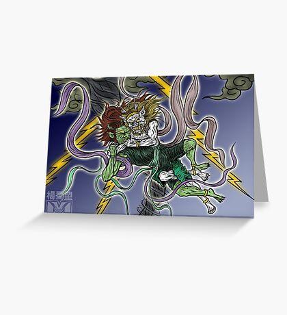 Demonic Twister Greeting Card