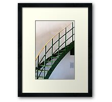 The Green Staircase Framed Print
