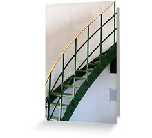 The Green Staircase Greeting Card