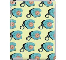 Telephone (yellow & aqua) iPad Case/Skin