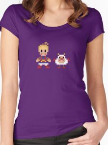 'Bow and Twink Women's Fitted Scoop T-Shirt