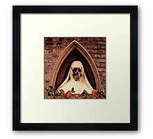 Scary Nun Framed Print