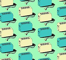 Toasters (mint & cream) by wallpaperfiles