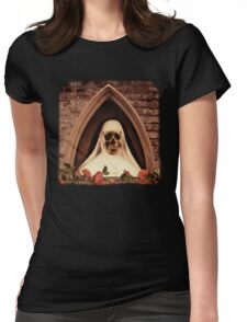 Scary Nun Womens Fitted T-Shirt