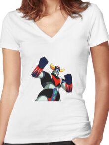 Goldrake UFO Robot Women's Fitted V-Neck T-Shirt