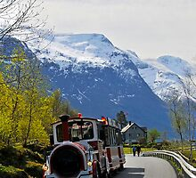 Olden tourist train, Olden, Norway by buttonpresser