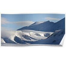 Snow Drift Sculpture Poster