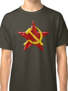 Large distressed Soviet symbol Classic T-Shirt