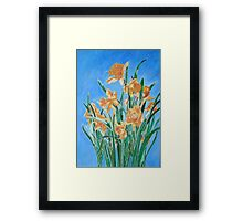 Golden Daffodils Framed Print