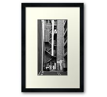 Chute the Mobile User.... Framed Print