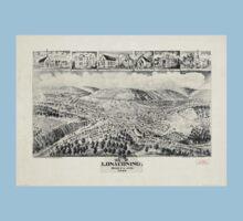 Panoramic Maps Lonaconing Maryland One Piece - Short Sleeve