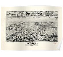 Panoramic Maps Lonaconing Maryland Poster