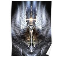 Heavenly Angel Wings Cross Poster