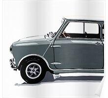 Classic Mini Cooper side view. Poster