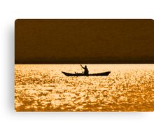 rowing for gold Canvas Print