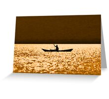 rowing for gold Greeting Card