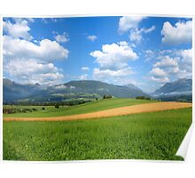 A Wheat Field in the Austrian Alps. Poster