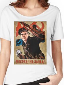 World War II Propaganda Poster – Soviet  Women's Relaxed Fit T-Shirt