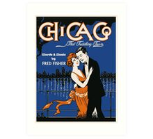 1920s style dancing couple, Chicago music Art Print