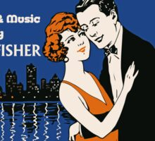 1920s style dancing couple, Chicago music Sticker