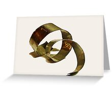 Glimmer of gold Greeting Card