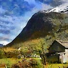 Rural landscape, Olden, Norway by buttonpresser