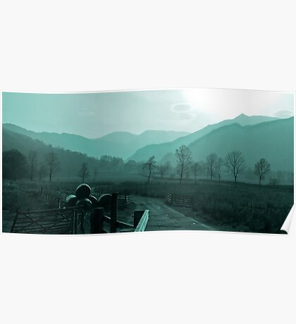 lakeland winter sillouette Poster