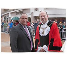 The Mayor of Bromley with Councillor Stephen Carr Poster