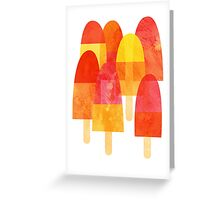 Ice Lollies Greeting Card