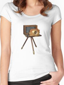 old camera t-shirt Women's Fitted Scoop T-Shirt