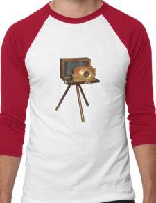 old camera t-shirt Men's Baseball ¾ T-Shirt