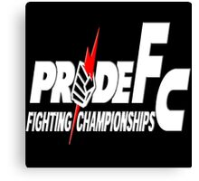 Pride Fighting Championships Japanese Mixed Martial Arts Pride UFC MMA Canvas Print