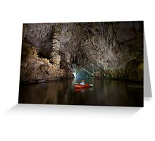 Cave kayaking, Thailand Greeting Card