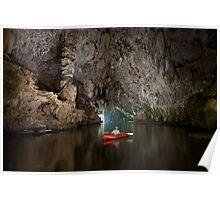 Cave kayaking, Thailand Poster