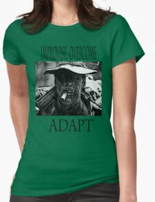 Improvise,overcome,Adapt Womens Fitted T-Shirt