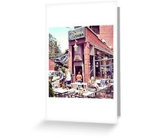 Riviera Cafe Sunlight - Greenwich Village, NYC Greeting Card