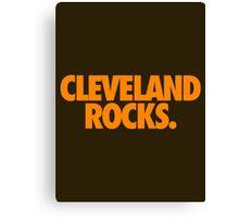 CLEVELAND ROCKS. - orange Canvas Print