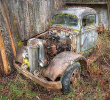 Rustic Truck by Tracy Riddell