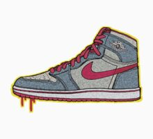 AIR JORDAN 1: GS RETRO FITTED GREY | RED LACES by SOL  SKETCHES™